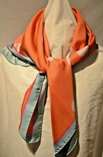 Paul Smith (Made in Italy) Women's Designer Orange Random Spots 100% Silk Scarf