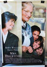 HS Mrs. Doubtfire Original Movie Poster 1993 -  Robin Williams - NM