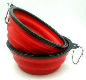 Tuff Pupper Portable Collapsible Water Bowl for Dogs Large NEW 2 Pack