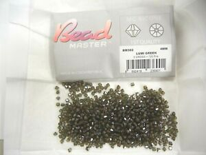 140 preciosa bicone crystal beads,4mm LUMI GREEN