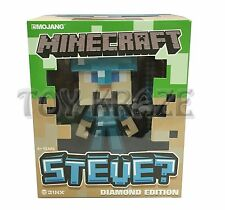 "MINECRAFT STEVE? DIAMOND EDITION FIGURE! w/ SWORD VINYL TOY JINX MOJANG 6"" NWT"