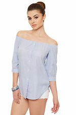 Cotton Short Sleeve Striped Classic Tops & Shirts for Women