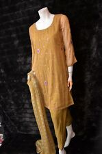 Georgette Embossed Embroidered Sequin Pakistani Indian Shalwar Kameez S - M  New
