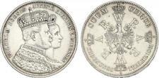PREUSSEN - Wilhelm I. (1861 -1888) Krönungstaler 1861 A Silber [D-48]