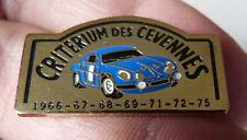 RARE PIN'S ALPINE RENAULT A 110 BERLINETTE RALLYE CRITERIUM DES CEVENNES 1966