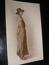 Old postcard woman cape hat spanish costume c1920s