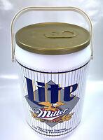 Vintage Miller Lite Beer Can Cooler Tailgate Kooler Kraft USA 30 Cans VTG 1996