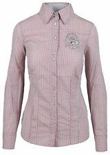 L' ARGENTINA Damen Bluse Women Shirt Gr. 38 M 100% Baumwolle Druckknöpfe Kariert