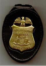 Philadelphia Police Detective Badge CutOut Standard Belt Clip Badge Not Included