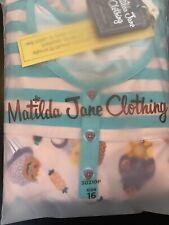 NIB Matilda Jane Wonderment Spooky Time Jammies Pajama Set Size 16. Hard To Find