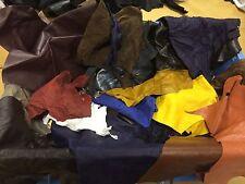 2kg Mixed Colours Genuine Leather Off cuts/scraps/remnants/pieces NO BLACKS