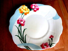 Art Deco / Vintage China Bread / Cake Plate.Hand Painted.Crown Staffordshire.