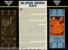 Super Bowl XXV 25 Gold Replica Ticket Sealed in 9x12 Card Giants vs Bills