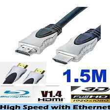 HDMI Cable v1.4 3D High Speed with Ethernet Full HD 1080p Gold Plated -1.5M