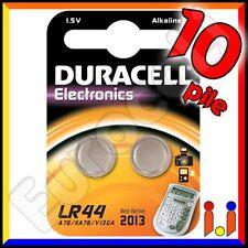 10 PILE DURACELL LR44 BATTERIE A76 LR 44 V13GA 1,5v