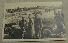 GENERAL DE GAULLE rare photographie du Général sur une plage de débarquement