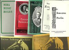 Lot of 14 Booklets: Edison, Talk-o-phone, Zon-o-phone, Victor, Vitaphone, Mira..