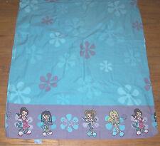Bratz Twin  Flat Sheet Cotton Fabric   Used