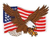 ab88 Flagge USA Abzeichen Adler Eagle Aufnäher Bügelbild Patch Biker 8 x 5,8 cm