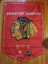 2018 MOLSON COORS LIGHT STANLEY CUP CHAMPIONS BANNER CHICAGO BLACKHAWKS