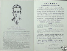 OLD BLESSED ISIDORO ZORZANO LEDESMA HOLY CARD OPUS DEI   SANTINI ESTAMPA   CC708