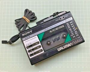 Sony Walkman WM-F28 [ S/N:116619 ] FM/AM/Auto Reverse Cassette player - Serviced