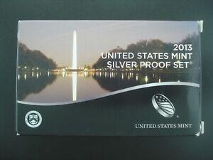 2013 U.S. Mint Silver Proof Set w/ Box & COA (14 Coins) **NO RESERVE**