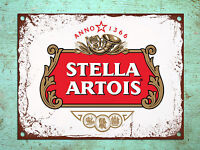 Metal plaque vintage retro style Stella beer decorative tin wall door bar sign