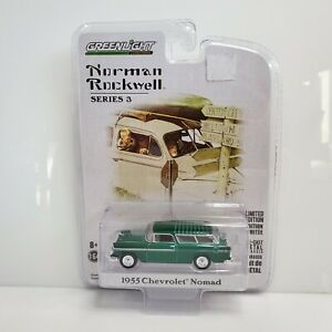 Rare Greenlight Norman Rockwell 1955 Chevrolet Nomad Green Machine Chase