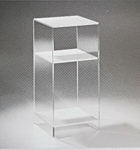 Regal aus Acrylglas - Konsole – Telefontisch - Blumentisch