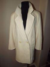 Evan-Picone Women's 100% Pure Wool Coat SZ 4 - BEIGE / IVORY SHORT COAT JACKET