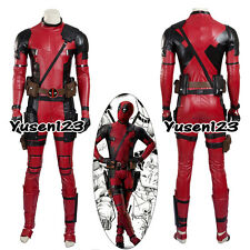X-Men Deadpool Wade Red Bodysuit Cosplay Costume Halloween Outfit Clothing