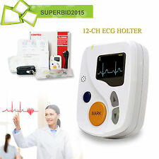 48 HOURS 12-CH Sistemi dinamici ECG / EKG HOLTER + PC SOFTWARE Dynamic SYSTEM