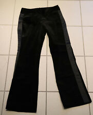 Benetton samtige edele schwarze Hose, bootcut Gr. 38