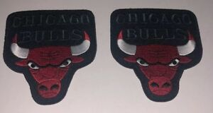 "Chicago Bulls Sew On/ Iron On Patch Lot Of 2: 3 3/4"" x 3 1/2"""