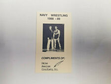 Navy 1988/89 College Wrestling Pocket Schedule Card
