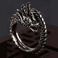 Drache Ring chinesischer Dragon Finger Hand Fingerring Drachen Long verstellbar