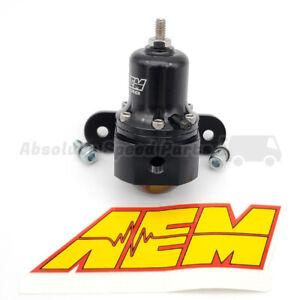 AEM High Capacity Universal Adjustable EFI Fuel Pressure Regulator 6AN 25-305BK