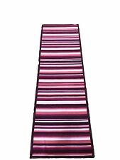 Tappeto cucina  57 x 180 rosa fucsia righe bianco moderno bagno antiscivolo