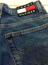 """Vtg Tommy Hilfiger Mens Jean Shorts Size 29"""" Freedom Spell Out"""
