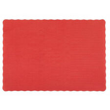 """25 Paper Placemats 10"""" X 14"""" Dinner Size 26 Colors - Red"""
