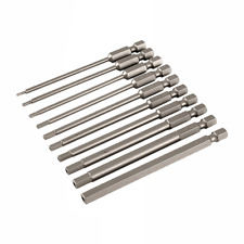 Wiha 76096 Security Hex Inch Power Blades Set, 10 pieces