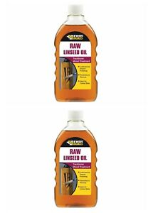 2 x Everbuild Raw Linseed Oil 500ml