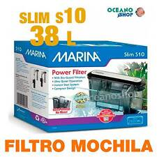 Filtro Mochila Slim 10 Marina caja blanca acuario gambario tortuguera CASCADA