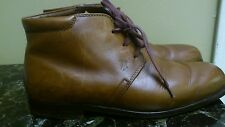 TOD'S  Man Brown Leather Ankle Boots Booties Shoes Size 8