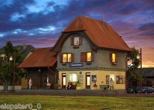 H0 Bahnhof Häusernmoos im Emmental inkl. Hausbeleuchtung 1:87, Kibri 39490