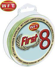(0,22€/1m) WFT First 8 KG Line 150m 0,18mm 17kg mint-Grün, geflochtene Schnur