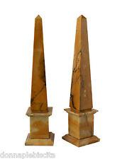 Obelisco in Marmo Giallo Marble Obelisk Classic Home Interior Design H.43 CM