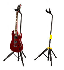 Self Locking Guitar Stand by Quincy automatic release pro stage gig black yellow