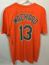 Men's Manny Machado Baltimore Orioles Orange Embroidered Jersey Style Tshirt - L